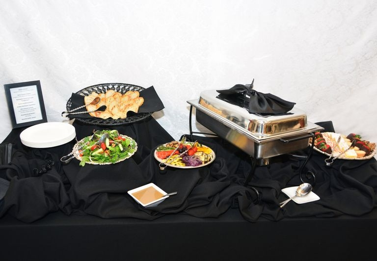 Lunch Buffet with Black Linen
