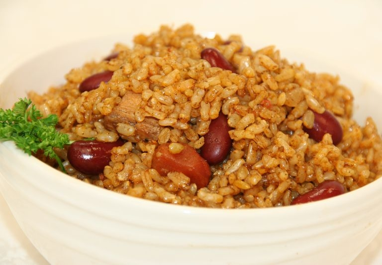 Mardi Gras Dirty rice with beans