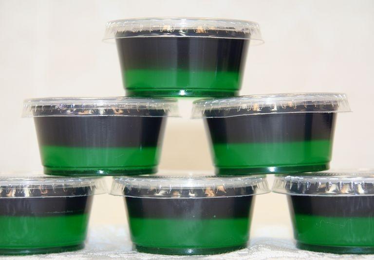 Mardi Gras Jell-O Shots