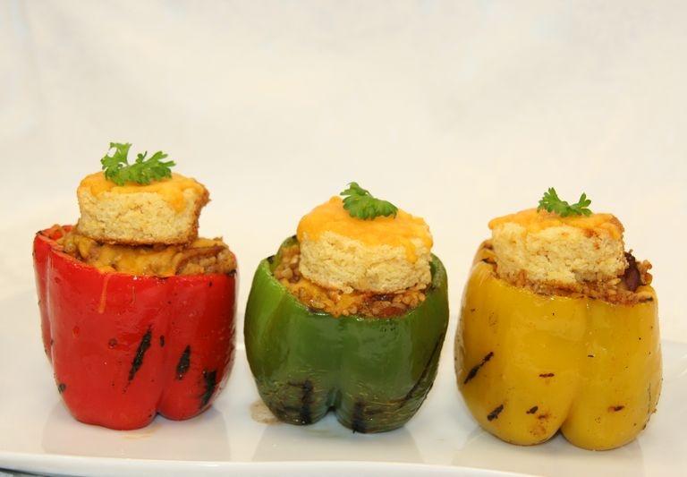 Mardi Gras Vegetarian stuffed bell