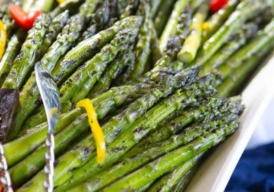 Grilled Asparagus Platter