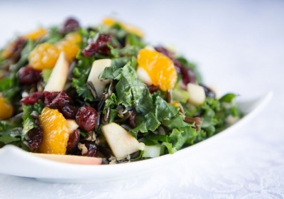 Winter Kale and rice salad