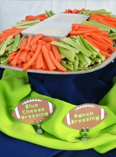 Celery and Carrot Sticks